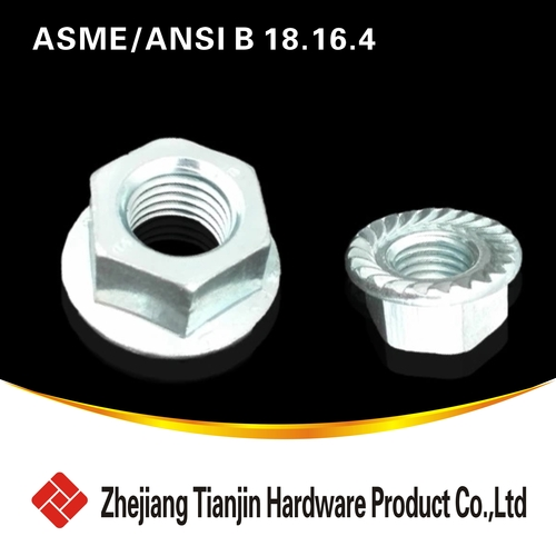 ASME  ANSI B  18  16  4     -1 Hexagon flange nuts