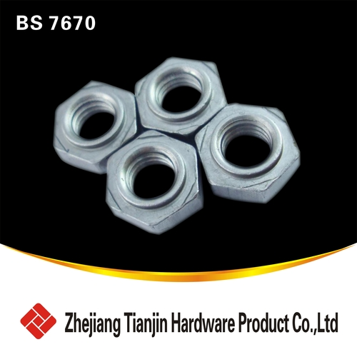 BS 7670   3 Hex nuts for resistance projection welding